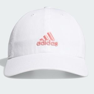 adidas sporty cap/ hat white with pink letters